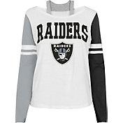 NFL Team Apparel Girl's Las Vegas Raiders White Long Sleeve T-Shirt