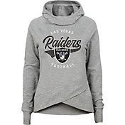 NFL Team Apparel Girls' Las Vegas Raiders Heather Grey Pullover Hoodie