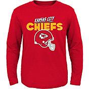 NFL Team Apparel Little Kid's Kansas City Chiefs Red Rad Long Sleeve T-Shirt