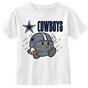 NFL Team Apparel Little Kid's Dallas Cowboys Grey Poki T-Shirt