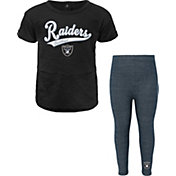 NFL Team Apparel Little Girls' Las Vegas Raiders T-Shirt and Legging Set