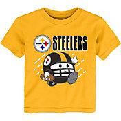 NFL Team Apparel Little Kid's Pittsburgh Steelers Gold Poki T-Shirt