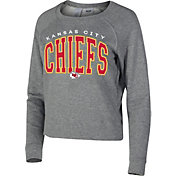 Concepts Sport Women's Kansas City Chiefs Mainstream Arch Grey Crew Sweatshirt
