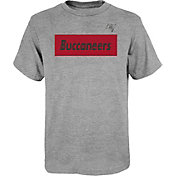 NFL Team Apparel Youth Tampa Bay Buccaneers Grey Box Logo T-Shirt