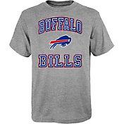 NFL Team Apparel Youth Buffalo Bills Chiseled Grey T-Shirt