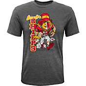 NFL Team Apparel Youth Kansas City Chiefs Dark Grey Heather Bust Loose T-Shirt