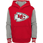 NFL Team Apparel Youth Kansas City Chiefs Red Heritage Pullover Hoodie