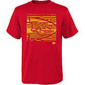 NFL Team Apparel Youth Kansas City Chiefs Red Scatter T-Shirt