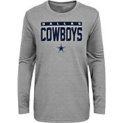 NFL Team Apparel Youth Pittsburgh Steelers Grey Training Camp Long Sleeve Shirt