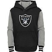 NFL Team Apparel Youth Las Vegas Raiders Black Heritage Pullover Hoodie