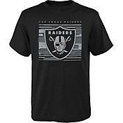 NFL Team Apparel Youth Las Vegas Raiders Black Scatter T-Shirt