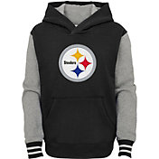 NFL Team Apparel Youth Pittsburgh Steelers Black Heritage Pullover Hoodie