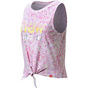 New Balance Girls' Tie Front Tie Dye Tank Top