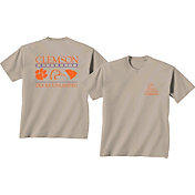New World Graphics Men's Clemson Tigers Tan Ducks Unlimited Stacked T-Shirt