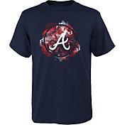 Outerstuff Youth Atlanta Braves Navy Logo T-Shirt