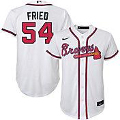 Nike Youth Replica Atlanta Braves Freddie Freeman #5 Cool Base White Jersey