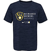 Outerstuff Youth Milwaukee Brewers Velocity Navy Practice T-Shirt