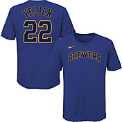 Nike Youth Milwaukee Brewers Christian Yelich #22 Blue T-Shirt