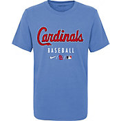 Nike Youth St. Louis Cardinals Powder Blue Early Work Performance Tri-Blend T-Shirt