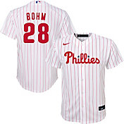 Nike Youth Replica Philadelphia Phillies Alec Bohm #28 Cool Base White Jersey