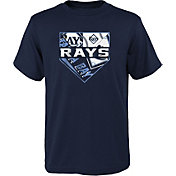 Outerstuff Youth Tampa Bay Rays Navy Logo T-Shirt