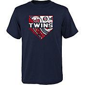 Outerstuff Youth Minnesota Twins Navy Logo T-Shirt