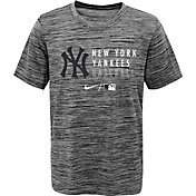 Nike Youth New York Yankees Heathered Grey Velocity Practice Performance T-Shirt