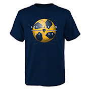 MLS Youth Los Angeles Galaxy Back of the Net Navy T-Shirt