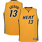 Nike Youth Miami Heat 2021 Earned Edition Bam Adebayo Dri-FIT Swingman Jersey