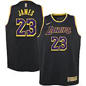 Nike Youth Los Angeles Lakers 2021 Earned Edition Lebron James  Dri-FIT Swingman Jersey