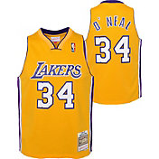 Outerstuff Youth Los Angeles Lakers Shaquille O'Neal #34 Yellow Dri-FIT Swingman Jersey