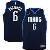 Nike Youth Dallas Mavericks 2021 Earned Edition Kristaps Porzingis Dri-FIT Swingman Jersey