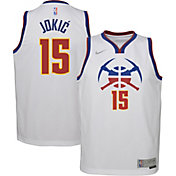Nike Youth Denver Nuggets 2021 Earned Edition Nikola Jokic  Dri-FIT Swingman Jersey