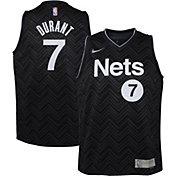 Nike Youth Brooklyn Nets 2021 Earned Edition Kevin Durant Dri-FIT Swingman Jersey
