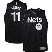 Nike Youth Brooklyn Nets 2021 Earned Edition Kyrie Irving Dri-FIT Swingman Jersey