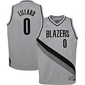 Nike Youth Portland Trail Blazers 2021 Earned Edition Damian Lillard Dri-FIT Swingman Jersey