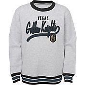 NHL Youth Las Vegas Golden Knights Legends Heather Grey Pullover Sweatshirt