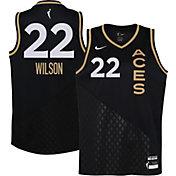 Nike Youth Las Vegas Aces A'ja Wilson Black Replica Rebel Jersey