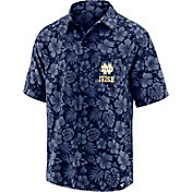 NCAA Men's Notre Dame Fighting Irish Floral Camp Short Sleeve Button-Down Shirt