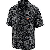NCAA Men's Texas Longhorns Floral Camp Short Sleeve Button-Down Shirt