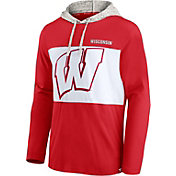 NCAA Men's Wisconsin Badgers Red Long Sleeve Hooded T-Shirt