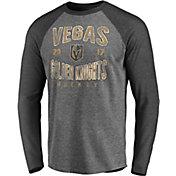 NHL Vegas Golden Knights Vintage Raglan Grey T-Shirt