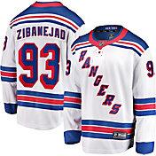 NHL Men's New York Rangers Mika Zibanejad #93 Breakaway Away Replica Jersey