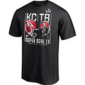 NFL Youth Tampa Bay Buccaneers vs. Kansas City Chiefs Duel Super Bowl LV Short Sleeve T-Shirt