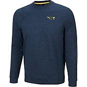 PUMA X Palm Tree Crew Men's CLOUDSPUN Golden Crewneck Golf Sweatshirt