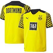 PUMA Youth Borussia Dortmund '21 Home Replica Jersey