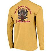 Image One Men's California Sierra Nevada Mountains Bear Graphic T-Shirt