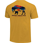 One Image Men's Yellowstone National Park Bison Short Sleeve T-Shirt