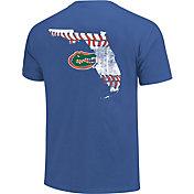 Image One Florida Gators Blue Baseball Laces T-Shirt