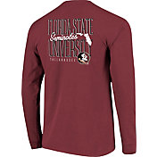 Image One Men's Florida State Seminoles Garnet Tall Type State Long Sleeve T-Shirt